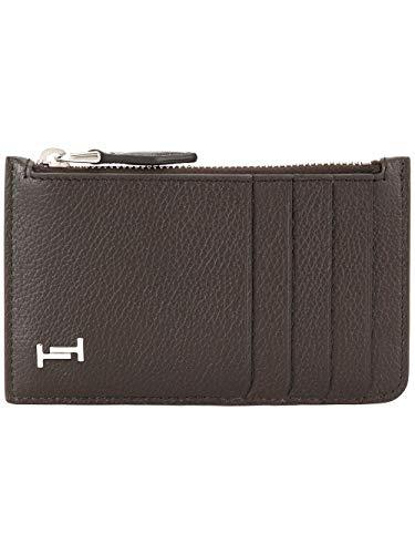 Hogan Luxury Fashion Herren XAMAMUF8300SUNS810 Braun Leder Kreditkartenetui | Jahreszeit Outlet