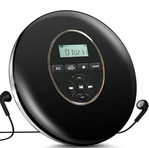 Reproductor De CD Montado En La Pared Reproductor Portátil Bluetooth Inteligente Máquina De Aprendizaje Repetida Pantalla LED, 14X3cm,Negro