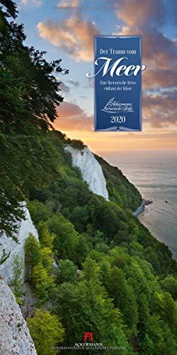 Der Traum vom Meer 2020, Wandkalender im Hochformat (33x66 cm) - Naturkalender / Literaturkalender mit Zitaten mit Monatskalendarium (Literarische Reihe)