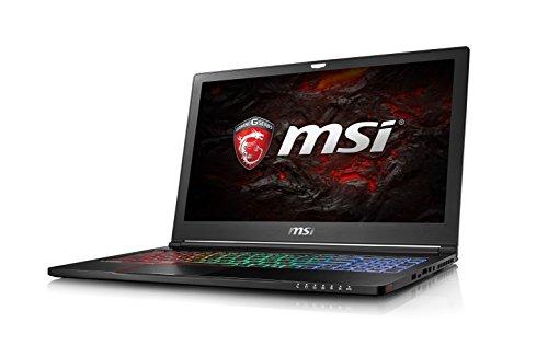 MSI Gaming GS63 7RD-225 Stealth 2.8GHz i7-7700HQ 15.6Zoll 1920 x 1080Pixel Schwarz Laptop, 0016K4-225