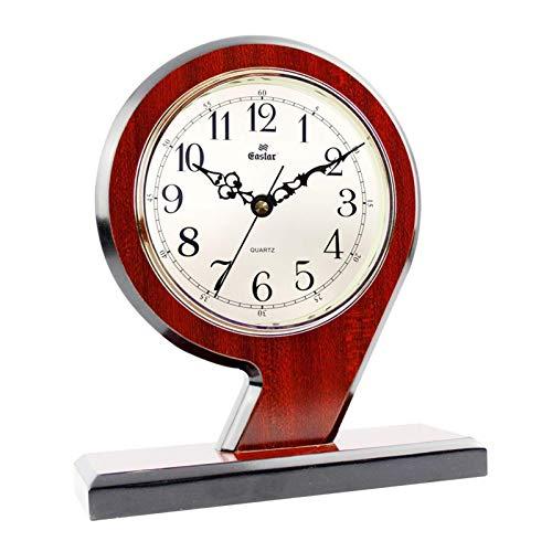 Relojes De Sobremesa con Números Árabes, Madera Maciza + Plástico Retro Mute Mute Sweep Reloj De Mesa Decorativo con Pilas para El Hogar, Cocina, Sala De Estar