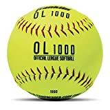 """Franklin Sports Official Size Softballs - 12"""" Softballs - Fastpitch Practice Softballs - Great for Practice + Training - Official Size + Weight - 4 Pack"""