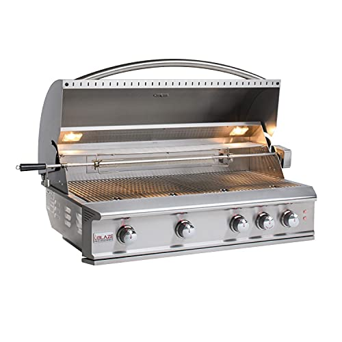 Blaze Professional LUX 44-Inch 4-Burner Built-in Propane Gas Grill with Rear Infrared Burner - BLZ-4PRO-LP