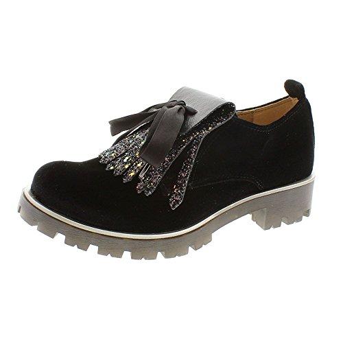 Zapatos Mujer Blucher Cordon Oxford Unisa Pamis Negro 36