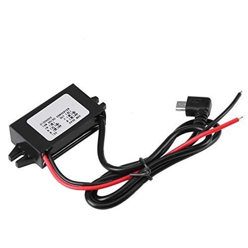 Convertidor de 12V a 5V El regulador de voltaje 3A admite 3 protecciones de seguridad inteligentes para estéreo de automóvil, radio, monitoreo, pantalla LED, ventilador eléctrico, motores