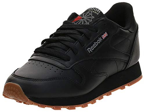 Reebok Classic Leather Zapatillas, Mujer, Negro (Int / Black / Gum), 39 EU