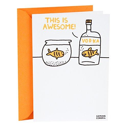 Hallmark Shoebox Funny Birthday Card (Vodka Goldfish) - 349RZF1014