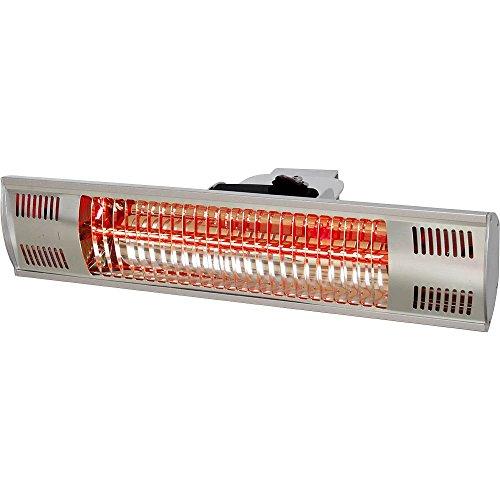 Stalgast elektrische warmtestraler, hangend, voor wand- of plafondmontage, afmetingen 455 x 90 x 100 mm (BxDxH)