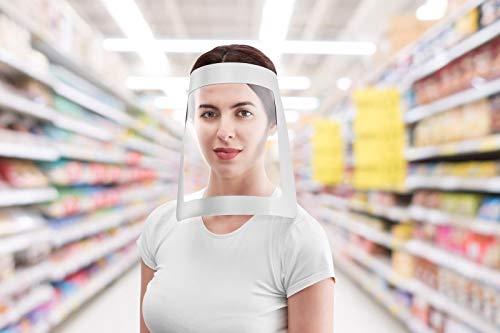 Flexomed | Pantalla Facial Protectora | ViseraPlus Todo Plata | Estuche 10 Unidades | Visera Facial | Pantalla Protectora Para Boca y Ojos | Mascara Facial Anti Bacterias | Fabricada en España
