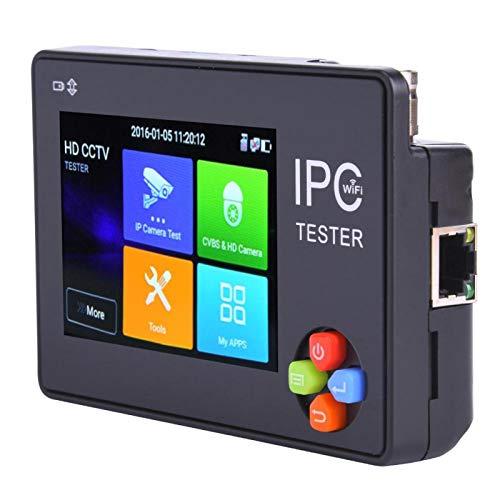 Aoutecen tamaño Compacto función Personalizada Icono decodificación de Hardware TVI Tester CVI Tester IP Camera Monitor IPC Tester IP(100V-240V European Plug)