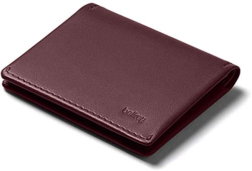 Bellroy Leather Slim Sleeve Wallet, Portafoglio minimalista con tasca anteriore - Wine