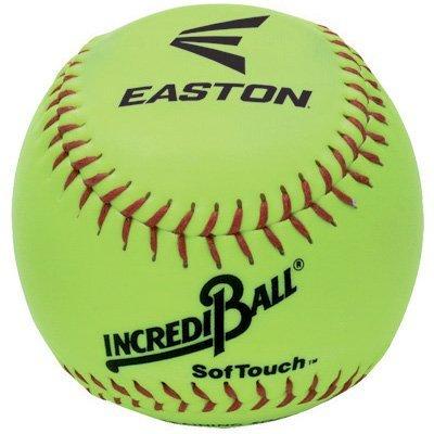 Easton Incrediball SofTouch 10 Softball, Yellow by Easton