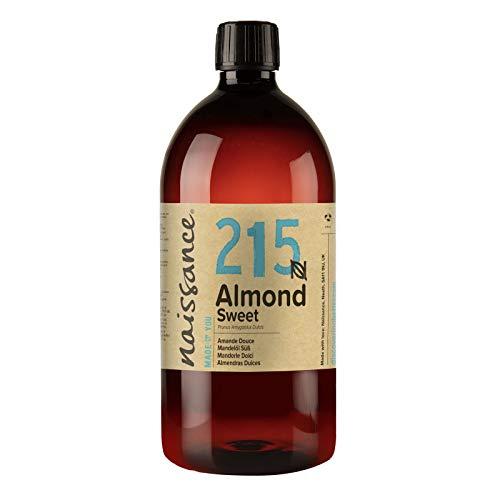 Naissance natürliches Mandelöl süß 1 Liter (1000ml) - Vegan, gentechnikfrei - Ideal zur Haut- und Haarpflege, für Aromatherapie und als Basisöl für Massageöle