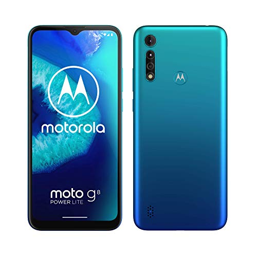 Motorola Moto G8 Power Lite (6,5' HD+ display, 2.3GHz octa-core processor, 16MP triple camera, 5000 mAH battery, Dual SIM, 4/64GB, Android 9), Arctic Blue