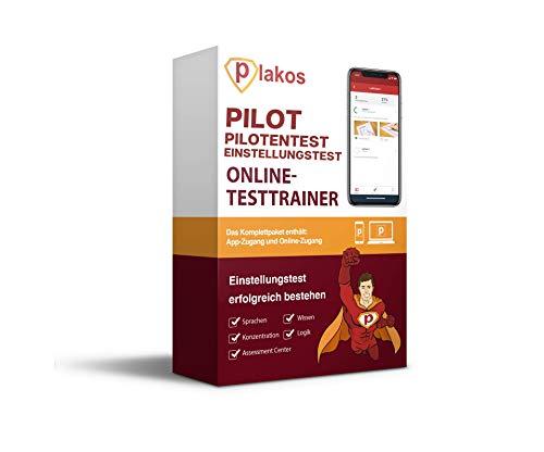 Pilotentest Einstellungstest Online-Testtrainer: authentische Aufgaben und Tests aus den Bereichen Sprache, Konzentration, Allgemeinwissen und Logik | Vorbereitung auf den Einstellungstest der Piloten