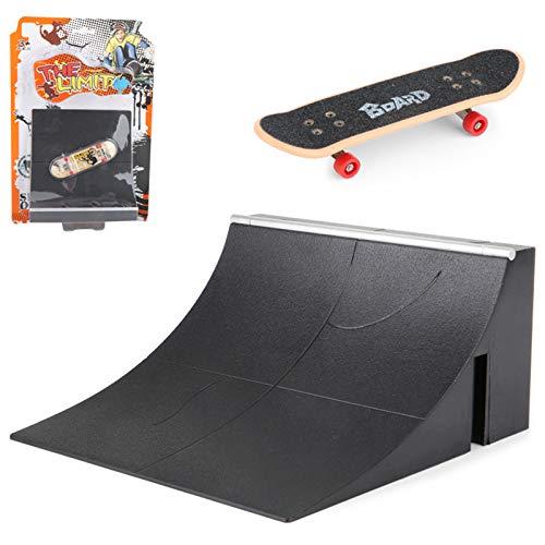 Supefriendly Mini Finger Toys Set,Fingerboard Rail Park Stair Kit Stairs Mini Skateboards for Kids Skateboard Game