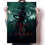 Película De Suspenso De Ciencia Ficción Popular Estadounidense Película De Personaje De Carbono Alterado Cartel Familiar Decoración De Pared Arte Pintura 50 × 70 Cm Sin Marco