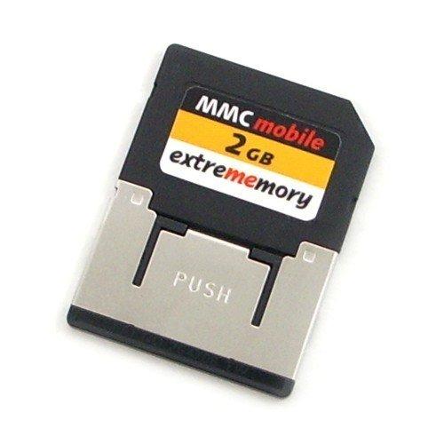 Extrememory 2GB MMCmobile 60x - Tarjeta de memoria 9 MB/s, Negro, 1.8/3.3 V, 24 mm)