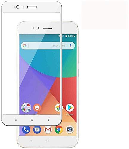 Modoca [2-Unidades] XiaoMi Mi A1(5X) Protector de Pantalla, protección más simple y eficaz de la pantalla [Cobertura Completa] Protector Vidrio Templado para XiaoMi Mi A1(5X), Blanco