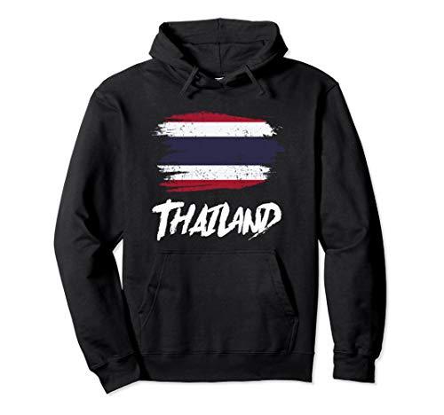 Thailand Flagge Thailändische Fahne Urlaub Pullover Hoodie