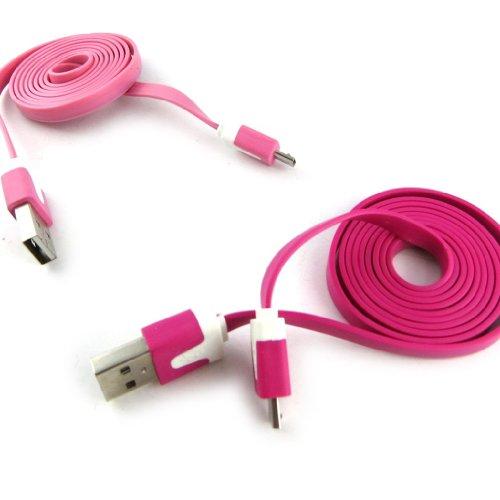 Les Trésors De Lily [K9285-2 Cables USB téléphones 'Coloriage' Rose Fuschia (1m)