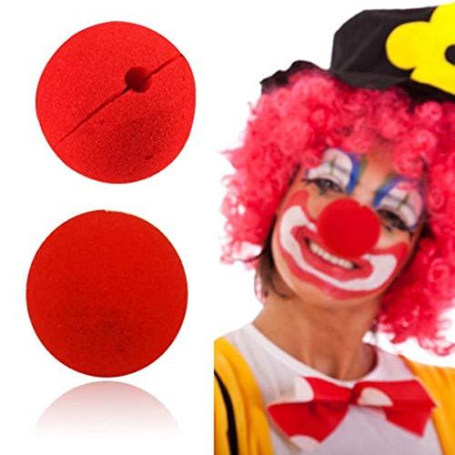 EROSPA® - Clown-Nase - Schaumstoff - Rot - 2 Stück - Karnevel Fasching Halloween
