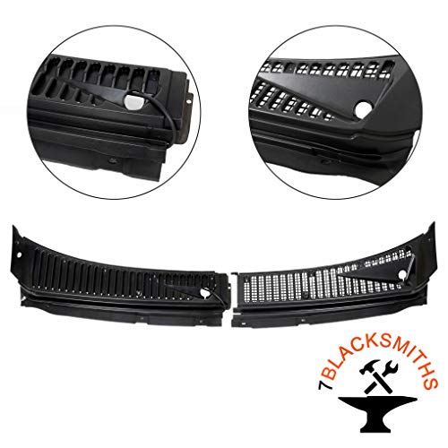 Windshield Wiper Cowl Vent Grille Cover Panels Kit Compatible With 1999-2007 F250 F350 Excursion(Driver&Passenger Side)-Replace Part# 3C3Z-25022A68-AAA & 4C3Z-25022A69-AAA
