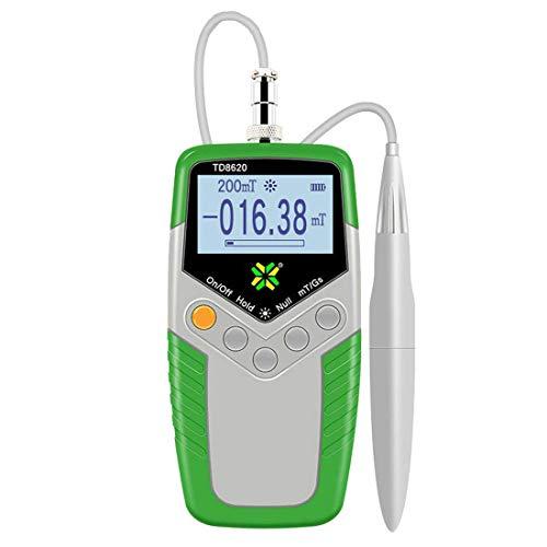 Isunking Handheld Digital Gauss Meter Hohe Präzision TD8620 Gaussmeter Fluxmeter Oberfläche Magnetfeld Tester mit Sonde 0-2400mT