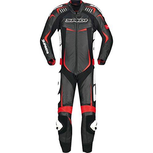 Spidi Track Wind Pro 1-Teiler Motorrad Lederkombi 54 Schwarz/Weiß/Rot