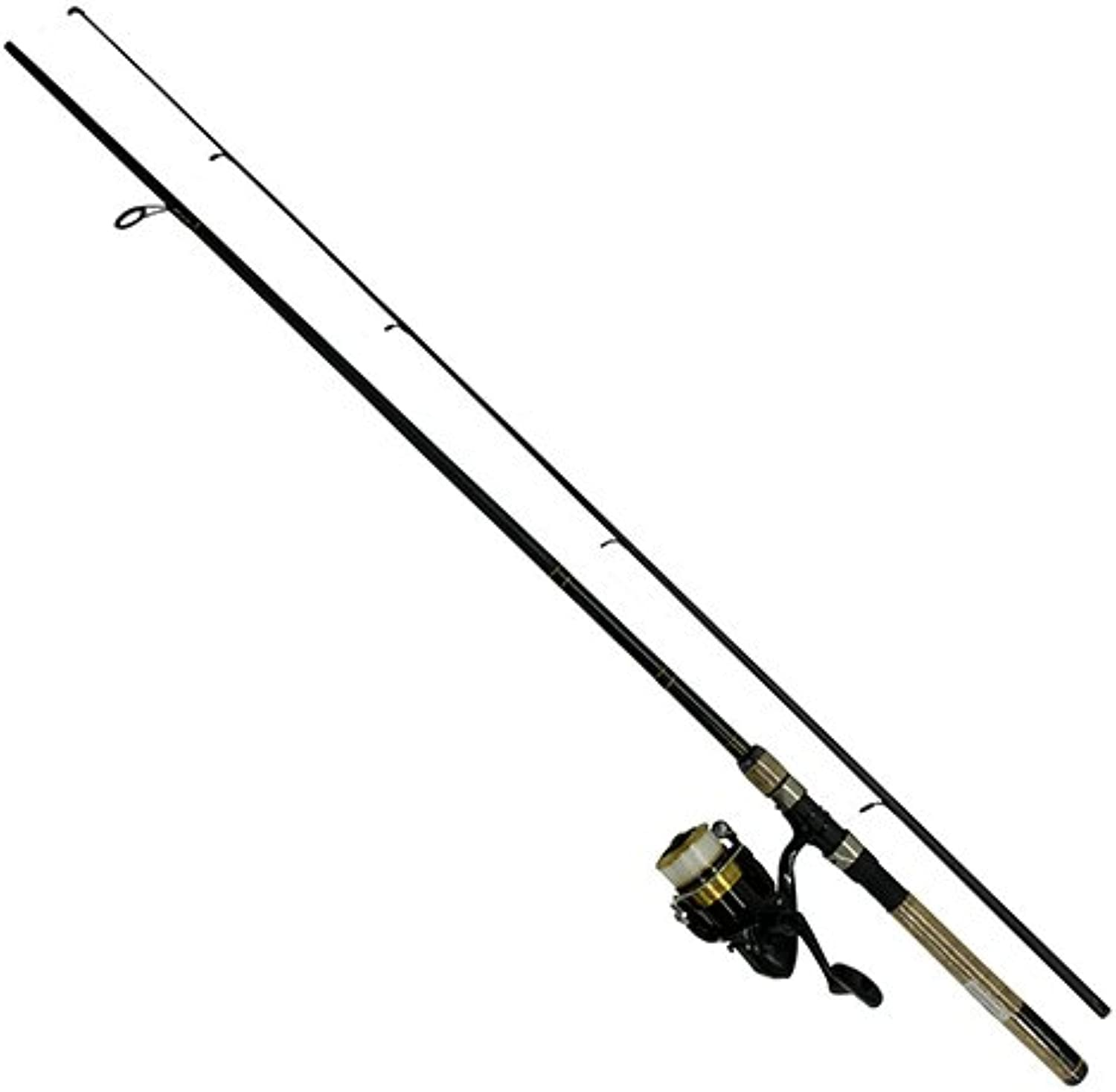 Daiwa DSK30B F702M12C DShock Reel & Rod Combo With Line 2.1m Medium Action, Black gold