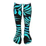 Calcetines de compresión para mujer y hombre, hojas de palma tropical, mejor apoyo para correr, deportes, senderismo, viajes en vuelo, circulación