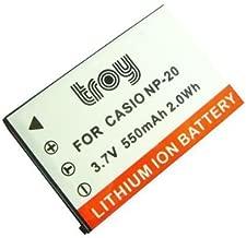 2x Baterías NP-20 NP20 800mAh para Casio Exilim EX-Z75PK EX-Z75SR EX-Z77 EX-Z770