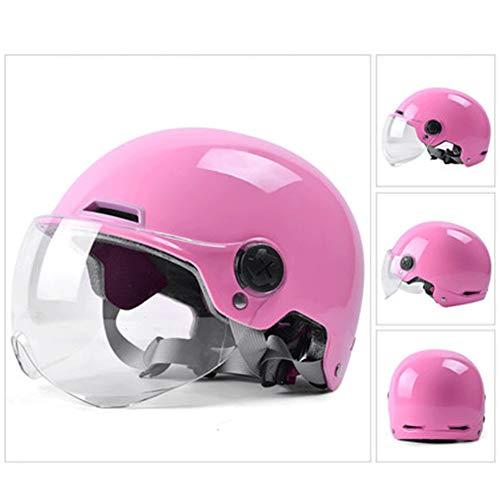 Halbschale Motorradhelm,Brain-Cap · Jet-Helm Offenes Motorrad-Helm Roller-Helm Scooter-Helm Mofa-Helm für Bobber Chopper Crash Cruiser Pilot Biker Racing mit Visier (Color : #5, Size : L(61CM))