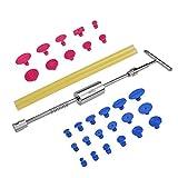 Beauneo Tools - Herramientas de reparación de abolladuras sin pintura para abolladuras