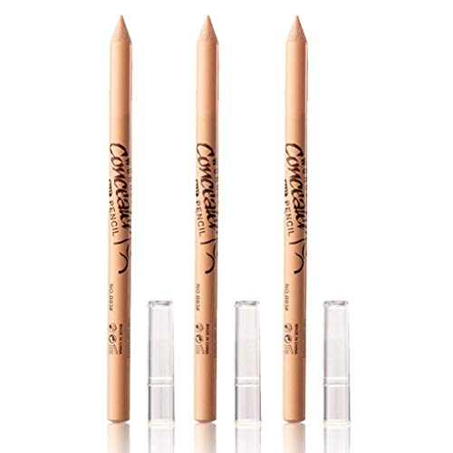 3 PCS Wonder Concealer Pencil, Contour Concealer Stick Highlighter Set, Waterproof Full Coverage Foundation Concealer for Eye Dark Circles Spot, Scar, Tattoos (B03#)