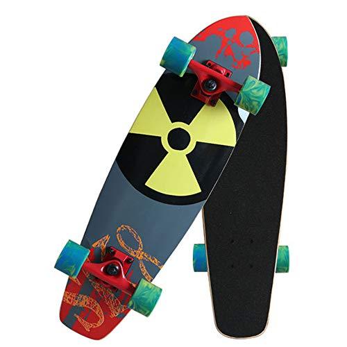CNSTZX Principiante Tablas de Skate Cruiser Skateboard de 7 Capas de Madera...