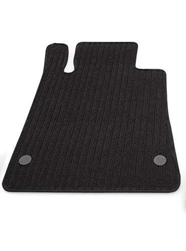 Fußmatten SLK R170 Rips Automatten Original Qualität, Ripsmatten Fahrermatte schwarz mit Absatzschoner