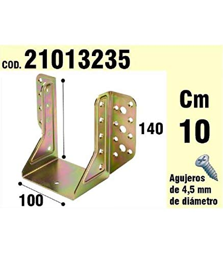 WOLFPACK LINEA PROFESIONAL 21013235 Soporte para Madera Alas Exteriores bicromatado 100 mm