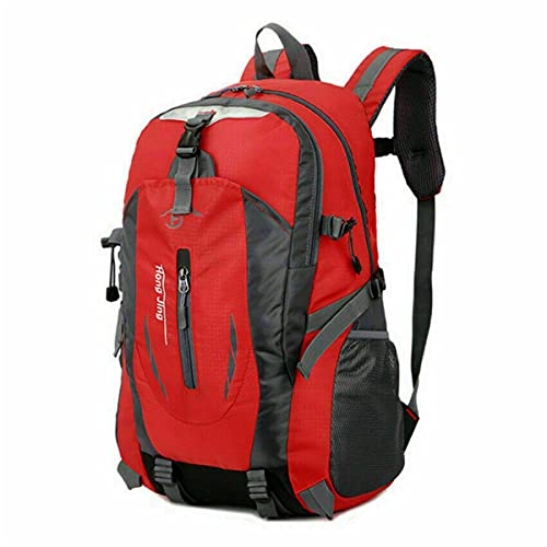 FA.cbj3 Mochila de senderismo, mochila grande impermeable de viaje para acampar para deportes al aire libre, mochila de viaje para escalar (rojo)