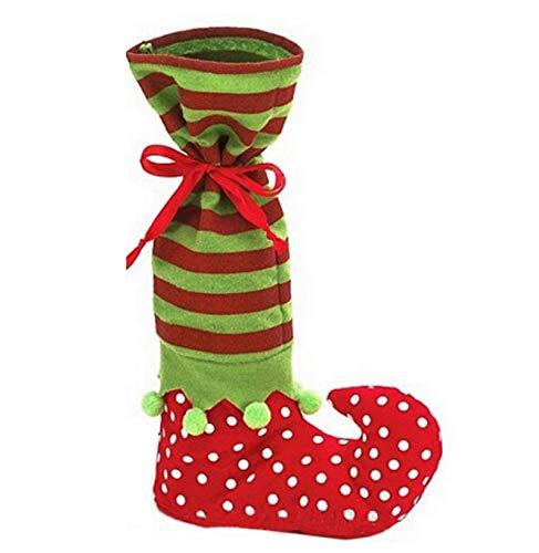 letaowl Calcetines de Navidad Elfo Bota de zapatos Suspendedores Candy Gift Bag Navidad Medias Calcetines Calientes 1