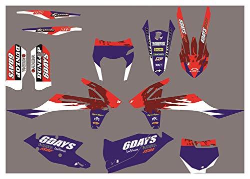 Wjyfexble Fondos de gráficos del Equipo de Motocicletas Direct Sticks Pegatinas de la Bicicleta Calcomanías para KTM EXC excH 2020 2021 SX SXF 2020 2019 125 150 250 350 450 WYJHN (Color : Ivory)