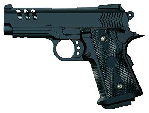 Rayline Softair Pistole Voll Metall V15 (Manuell Federdruck), Nachbau im Maßstab 1:1, Länge: 18,5cm, Gewicht: 360g, Kaliber: 6mm, Farbe: Schwarz - (unter 0,5 Joule - ab 14 Jahre)