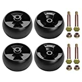 UP2WIN Deck Wheels Fit for Cub Cadet Mower - Deck Rollers Gauge Wheel Compatible with Cub Cadet Troy Bilt Craftsman Lawn Mower Tractor, Replaces 734-04155