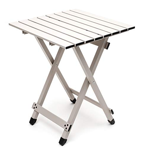 SUNNYFEEL Aluminum Folding Camping Table, Compact Lightweight Camp Tables,...