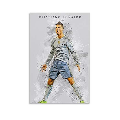 TINGTAI Cristiano Ronaldo CR7 Poster de joueur de football avec impression artistique sur toile 20 x 30 cm