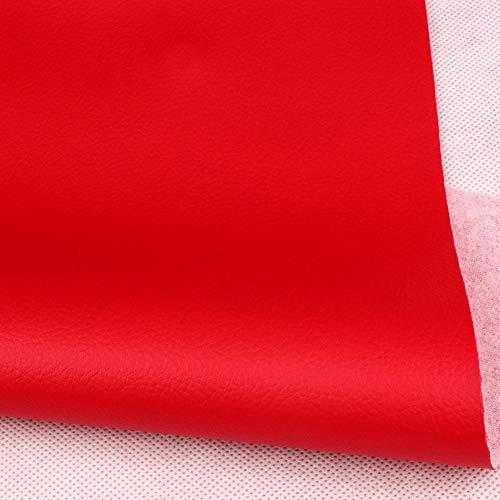 HanYu Reparation läder konstläder mjuk textur känsla fuskläder material vinyl fuskläder tyg konstläder, för soffor fåtöljväskor (färg: Röd, storlek: 1,38 x 1 m (4,53 x 3,85 m))