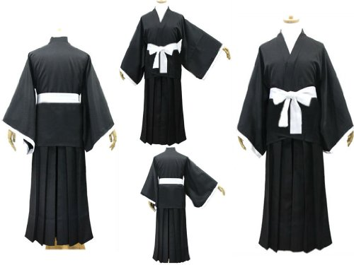 SUNKEE Anime Bleach Cosplay - Ichigo Kurosaki Kimono Cosplay Costume, Taille S: (155-162cm,45-50 kg)