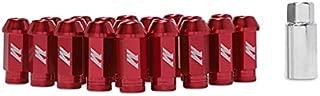 Mishimoto MMLG-125-LOCKRD Aluminum Locking Lug Nuts, M12 x 1.25, Red