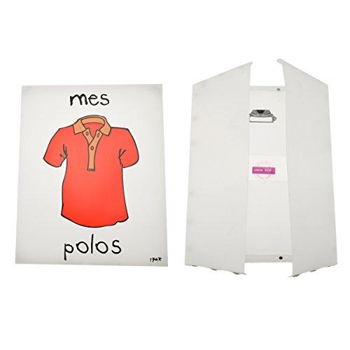 Incidence Paris 42479 Boite - Mes Polos, Plastique, Transparent, 40x32x17 cm