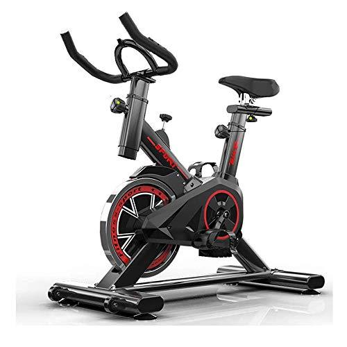 Ciclismo Indoor Bicicleta estática, la correa de accionamiento directo del volante, resistencia magnética, 3-piezas de manivela, for el hogar cardio del gimnasio con un cómodo cojín del asiento, for e